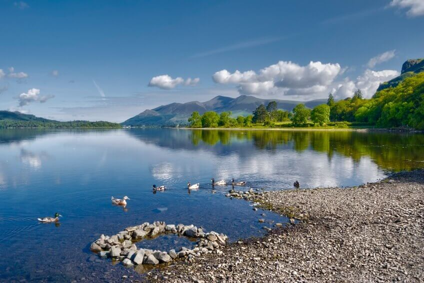 Scenic photo of a lake in the Lake District.