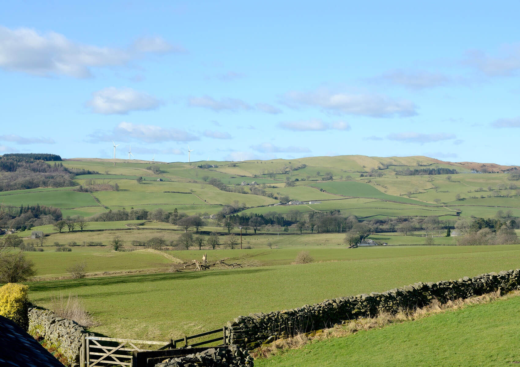 Landscape photo of the countryside in the Lake District