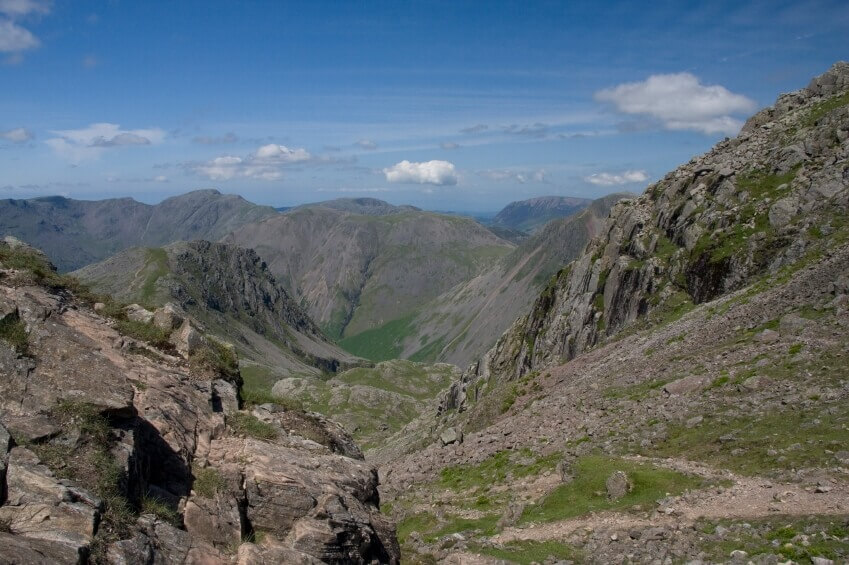 View from atop Scafell Pike