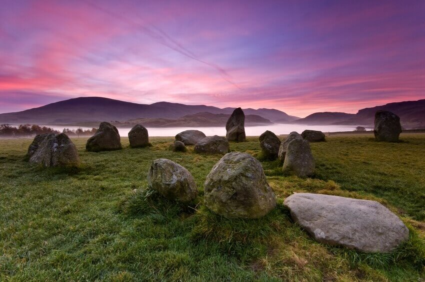 Castlerigg Stone Circle wiith Hellvelyn in the Background