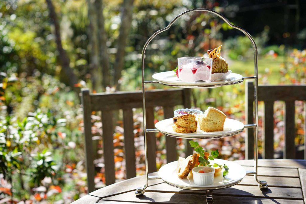 afternoon tea, terrace, outside